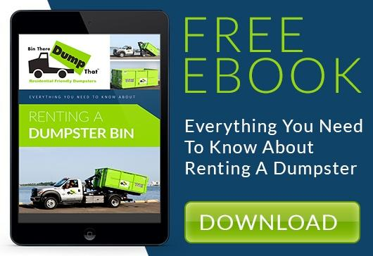 How To Rent a Dumpster Bin Call To Action