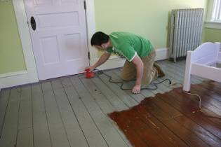sanding floors with the windows open is a good indoor home renovation project