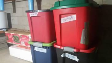 Christmas Color-coded totes for Holiday Home Organ