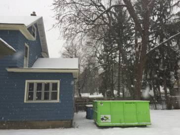 Dumpster Tight Up To Grand Rapids Home